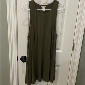 Basic by H&M olive dress